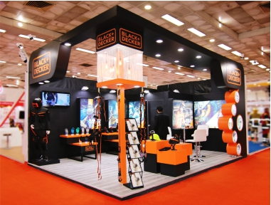 Black + Decker 24 Sq. Mtr., Fire India 2019, New Delhi